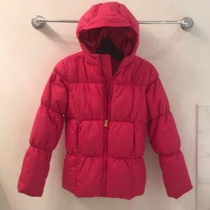Girls' Hot Pink Ralph Lauren Hooded Puffer Coat